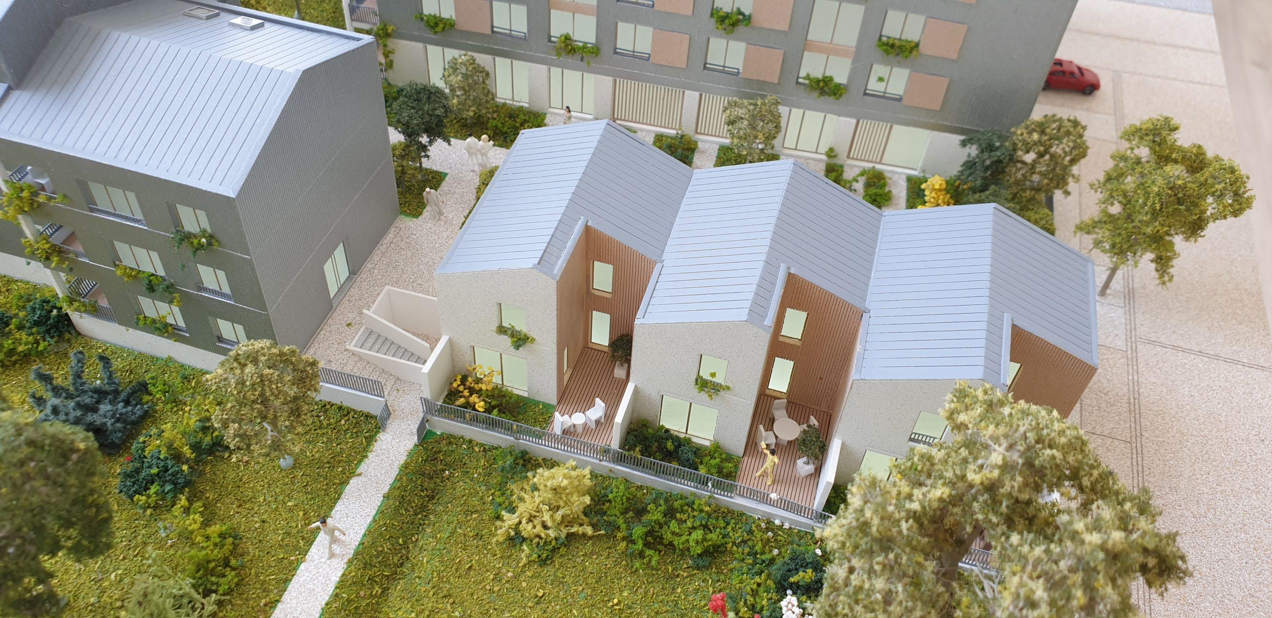 Les maisons de ville - vue terrasse